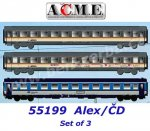 "55199 A.C.M.E. ACME Set of 3 Passenger Cars ""ALEX"" - Západní expres"