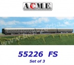 55226 A.C.M.E. ACME Set of 3 Passenger Cars Type UIC-X of the FS