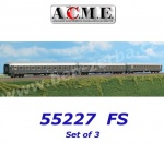 55227 A.C.M.E. ACME Set of 3 Passenger Cars Type UIC-X of the FS