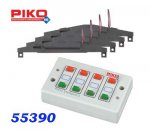 55392 Piko Set: 4 Electric Turnout Mechanism + switchboard