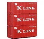 56220 Piko 20 Ft. Container K-Line (Set of 3)
