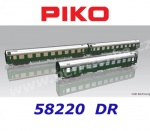 58220  Piko Set of 3 Cars typeY D 300 of the DR  - Set 1