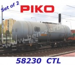 58230 Piko Set of 2 Tank Cars Type  (406Ra) Zaes of the CTL Logistics