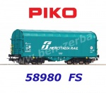"58980 Piko Sliding tarpaulin wagon ""Mercitalia"" of the FS"