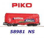 58981 Piko Sliding tarpaulin wagon Railion of the NS