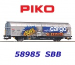 58985 Piko Hbbillnss open-plan sliding wall wagon of the SBB