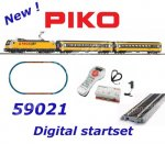 59021 Piko Digital Startset - Passenger Train with  Locomotive Class 386, Regiojet, CZ