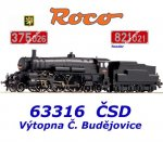 63316 Roco Steam locomotive class 375.0 of the CSD - DCC Digital
