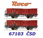 67103 Roco Set of 2 freight cars of the CSD