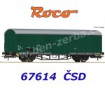 "67614 Roco  Boxcar, type Gbqs ""Czech Post"" of the CSD"