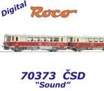 70373 Roco Diesel railcar class M152.0 and caboose of the CSD - Sound