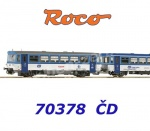 70378 Roco Diesel railcar class 810 and caboose type BDtax of the CD