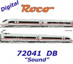 72041 Roco  4-pcs  Electric railcar ICE 3 407 006-1 of the DB, Sound