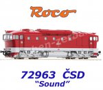 72963 Roco Diesel Locomotive series T748.4 of the CSD, Sound