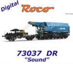 73037 Roco Slewing railway crane EDK 750 of the DR - Sound