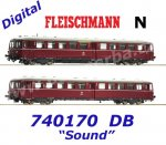 740170 Fleischmann N 2-piece Railcar Class 515 of the DB - Sound