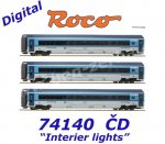 "74140 Roco 3- piece set  ""Railjet"" of the CD with digitally switchable interior lighting."