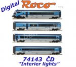 "74143 Roco 4  piece set  ""Railjet"" of the CD with digitally switchable interior lighting"
