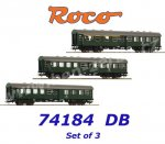 74184 Roco 3 piece set conversion cars (4 axles) of the DB