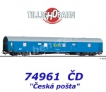 "74961 Tillig Mail wagon ""Ceska posta"" of the CD"