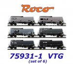 75931-1 Roco Set of 6 Tank Cars Type  Zaes  VTG