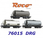 76015 Roco Set of 3 Tank Cars of the DRG