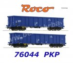 76044 Roco Set of 2 open cars type Eanos of the PKP Cargo