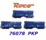 76078 Roco Set of 3 Hopper Cars Type Fals of the PKP Cargo