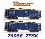 76086 Roco 2-piece set gondolas with coal, Chem Trans Logistic