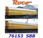 "76153 RocoSet of 2 Sliding Wall Boxcars ""Post"" of the Wascosa, SBB"