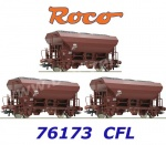 76173 Roco Set of 3 Hopper Cars Type Fcs of the CFL