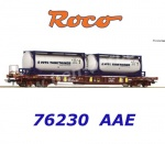 "76230 Roco Container wagon type Sdgmns 33 ""VOTG"" of the AAE"