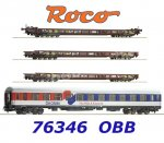 "76346 Roco 4 piece set: ""Rollende Landstraße"", of the ÖBB"