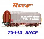 "76443 Roco Sliding Tarpaulin Car Type Rils ""FRET"" of the SNCF"