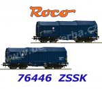76446 Roco Set of 2 Telescopic Hood Cars Type Shimms of the ZSSK