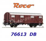 76613 Roco Boxcar type Gbs 245, of the DB with battery-powered tail lights