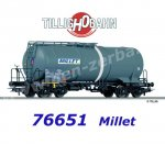 76651 Tillig Tank Car Zas of the MILLET S.A.S.
