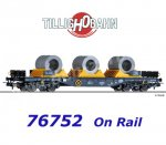 76752 Tillig Flat Car Type Sgmmns 4505 with load of the On Rail