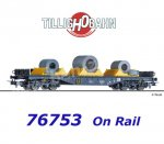 76753 Tillig Flat Car Type Sgmmns 4505 with load of the On Rail