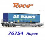 "76754 Roco Standard pocket wagon, type Sdkmms, of the HUPACwith trailer ""DE WAARD"""