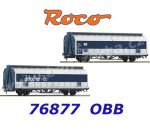 76877 Roco Set of 2 Sliding Wall Boxcar of the OBB