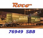 "76949 Roco Container Car with 2 Containers of ""Cawa Trans"" SBB"