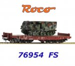 76954 Roco Heavy Duty Flat Car with Tank MARS/MLRS 270, FS