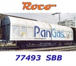 "77493 Roco Sliding wall wagon type Hbbillns ""PanGas""of the SBB"
