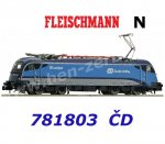 "781803 Fleischmann N Electric Locomotive Rh 1216 ""Railjet"", CD"