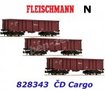 828343 Fleischmann N Set of 3 gondolas type Eas, CD Cargo