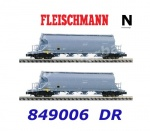 849006 Fleischmann N Set of 2 Dust silo wagons type Uacs-x, of the DR