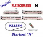 "931884 Fleischmann N Digital starter set z21 Start - 4 piece set express train ""ICE 2"" of the DB"