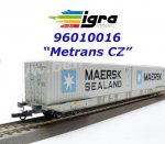 96010016 Igra Container Car Type Sggnss MT + 2 Containers Maersk + Maersk Sealand - Metrans CZ