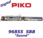 96855 Piko Set Electric unit powered car with control car  Rbe 4/4 NPZ of the SBB - Sound